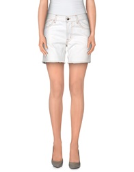 Gold Case Denim Bermudas Ivory