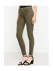 7 For All Mankind The Skinny Soft Sateen Cargo Pant Army