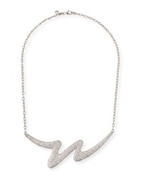 Carelle Brushstroke 18K White Gold Diamond Necklace
