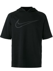 Nike City Running Short Sleeve Hoodie Black