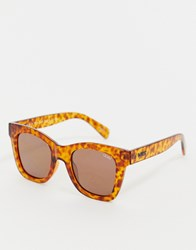 b59d40114ba0c Quay Australia After Hours Square Sunglasses In Tort Brown