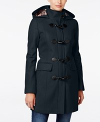 Tommy Hilfiger Hooded Toggle Walker Coat Navy