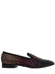 Louis Leeman Embellished Suede Loafers