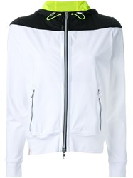 Monreal London Hooded Zip Up Jacket White