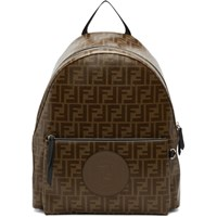 Brown And Black 'Forever Fendi' Backpack