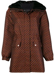 Etro Geometric Printed Coat Black