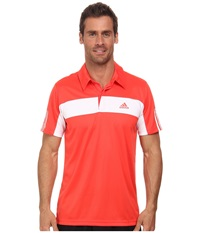 Adidas Tennis Sequencials Galaxy Polo Bright Red White Men's Short Sleeve Pullover