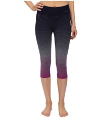 Brooks Streaker Capris Currant Navy Women's Capri Brown