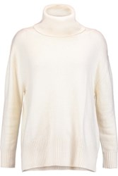 Enza Costa Knitted Turtleneck Sweater Ivory