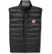 Canada Goose Lodge Packable Quilted Ripstop Down Gilet Black
