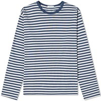 Nanamica Coolmax Stripe Jersey Long Sleeve Tee Blue
