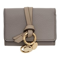 Chloe Grey Mini Alphabet Wallet