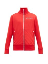 Palm Angels Sleeve Stripe Technical Jersey Track Jacket Red