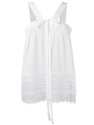 N 21 No21 Broderie Anglaise Top White