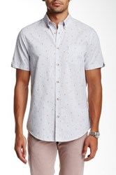 Ben Sherman Short Sleeve Regular Fit Chambray Shirt Gray