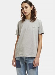 Acne Studios Taline Face Crew Neck T Shirt Grey