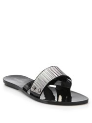 Melissa Metal Plaque Rubber Thong Sandals