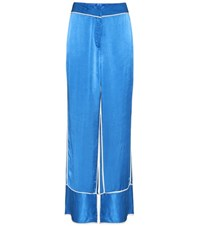 By Malene Birger Raniyah Satin Trousers Blue