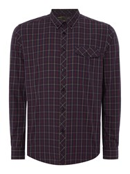 Merc Men's Long Sleeve Check Shirt Navy