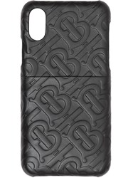 Burberry Monogram Leather Iphone X Xs Case Black