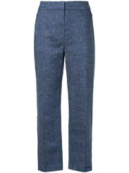 Elie Tahari Chambray Trousers Blue