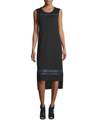 Public School Nevin Sleeveless Jersey Midi Dress Black