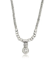 Orlando Orlandini White Gold Chain Snake Necklace W Diamond