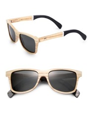 Shwood Canby Slugger Wooden Bat Sunglasses Light Beige