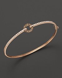 Bloomingdale's White And Brown Diamond Bangle In 14K Rose Gold .55 Ct. T.W. Multi