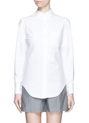 Thom Browne French Cuff Cotton Pique Shirt White