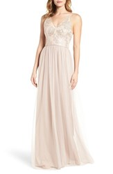 Amsale Women's Sora Sequin And Lace Gown