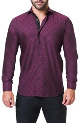 Maceoo Einstein Edge Trim Fit Sport Shirt Red