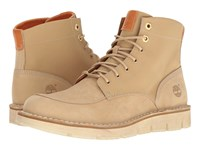 Timberland Westmore Leather Fabric Boot Light Beige Nubuck Canvas Men's Lace Up Boots Tan