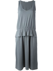 Societe Anonyme Peplum Detail Tank Dress Grey