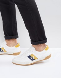 Fred Perry B1 Sports Authentic Tennis Leather Trainers White Snow White
