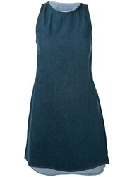 Maison Martin Margiela Mm6 Maison Margiela Bicolour Denim Dress Blue