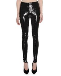Tom Ford Liquid Sequin Full Length Leggings Black