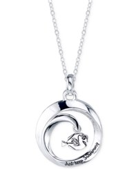 Disney Finding Dory 'Just Keep Swimming' Round Pendant Necklace In Sterling Silver