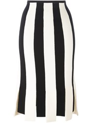 Salvatore Ferragamo Striped Skirt Black