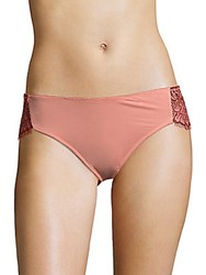 For Love And Lemons Loucette Lace Briefs Rose