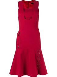 Giuliana Romanno Sleeveless Fitted Dress Red