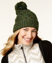 Steve Madden Speckled Cable Beanie Green