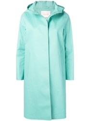 Mackintosh Cascade Bonded Cotton Hooded Coat Lr 021 Green