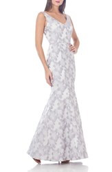 Js Collections Women's Jacquard Mermaid Gown