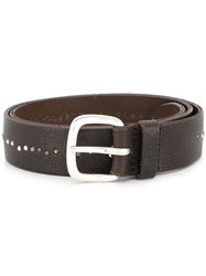 Orciani Micro Studded Belt Brown