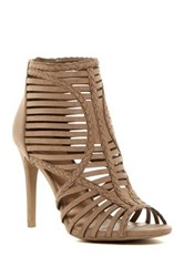 Legend Footwear Berlin Caged Peep Toe Sandal Brown