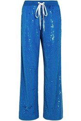 Ashish Sequined Cotton Track Pants Blue