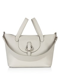 Meli Melo Rose Thela Leather Satchel Cloud Gray Silver