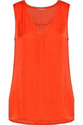 Tart Collections Camilla Crepe De Chine Tank Bright Orange
