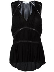 Iro Sleeveless Ruched Tier Top Black